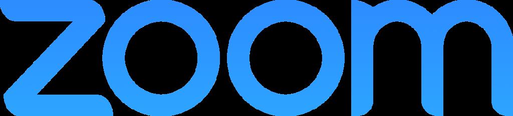 Logotipo de Zoom, aplicación de videoconferencias