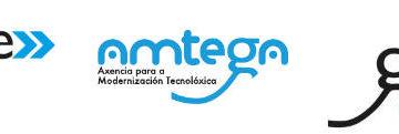 Logos de Gain, Amtega e Igape, axencias da Xunta de Galicia